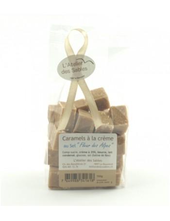 """Caramels à la Crème au sel """" Fleur des Alpes"""""""